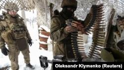 Українські військові на позиціях біля Авдіївки, фото 25 листопада 2017 року
