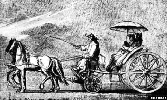 Лёгкі падарожны транспарт— тарадайка, 1773