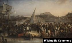 Наполеон покидает Эльбу, не получив компенсацию за плохую погоду. Жозе Бове