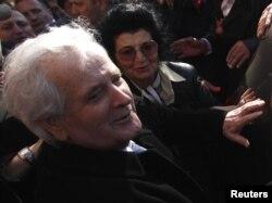 Fikret Abdić, 9. marta 2012. nakon oslobađanja iz zatvora