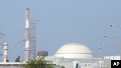 The Bushehr nuclear power plant, outside the southern Iranian city of Bushehr