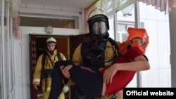 Chechnya rescue service, firemen