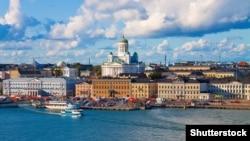 Вид на Хельсинки, столицу Финляндии.