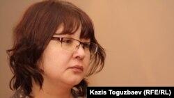 Оппозициялық Nakanune.kz сайты иесі Гузяль Байдалинова.