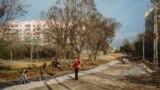 Ремонт дороги на улице Симонок в Севастополе