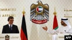 عبدالله بن زاید آل نهیان و گیدو وستروله، وزیران خارجه امارات و آلمان