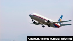 Iran -- A Caspian Airlines Boeing 737,undated. There two Boeing 737 owned by Ukrainian Khors airlines which is leased by Iranian Caspian Airlines.