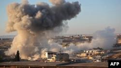 Sulmet e forcave qeveritare siriane në Idlib (foto arkiv).