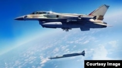 Rampage missile fired from F-16 fighter jet developed by IMI Systems and Israel Aerospace Industries