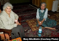 Mary MacMakin (right) with Betty Tisdale, founder of HALO (Helping and Loving Orphans), in Kabul in 2014