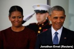 Президент США Барак Обама і його дружина Мішель. Вашингтон, 20 січня 2017 року