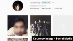 """Страница в """"Инстаграме"""" сына Равшана Жээнбекова"""