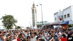 Демонстрация протеста против конституционной реформы в Марокко