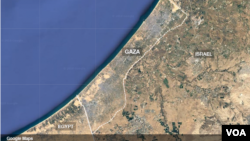 Geografski položaj: Gaza i Izrael