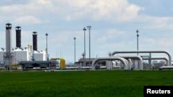 Газовая подстанция в Словакии на границе с Украиной в Вельке Капушаны, где проходят словацко-украинские переговоры