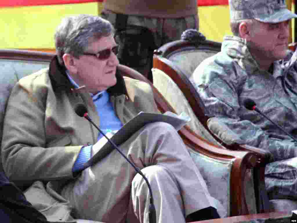 Richard Holbrooke visits Pakistan's Swat Valley, where the Pakistani Army had been engaged in an operation against Taliban militants, on January 14, 2010.