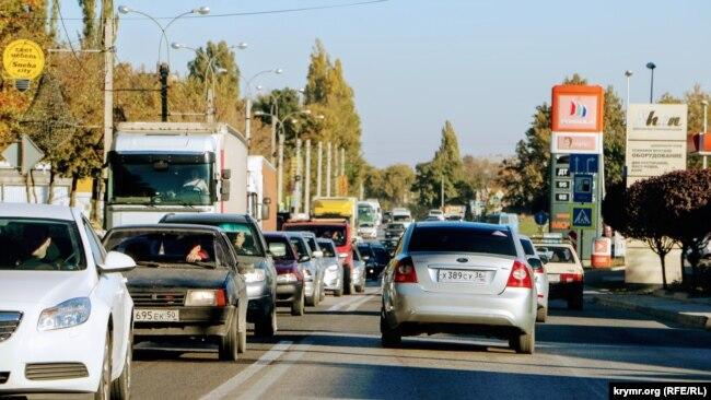 Пробки в Симферополе, 15 октября 2018 года