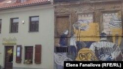 Ужупис граффити