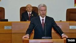 Сяргей Сабянін выступае пасьля зацьвярджэньня мэрам Масквы