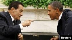 Hosni Mubarak və Barack Obama, 1 sentyabr 2010