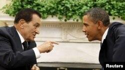 Барак Обама (справа) и Хосни Мубарак, Вашингтон, 1 сентября 2010