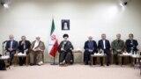 IRAN -- Iranian President Hassan Rohani and his cabinet meet the Supreme Leader Ayatollah Ali Khamenei (center), in Tehran, August 29, 2018