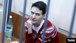 Надія Савченко під час засідання Басманного суду. Москва, 4 березня 2015 року