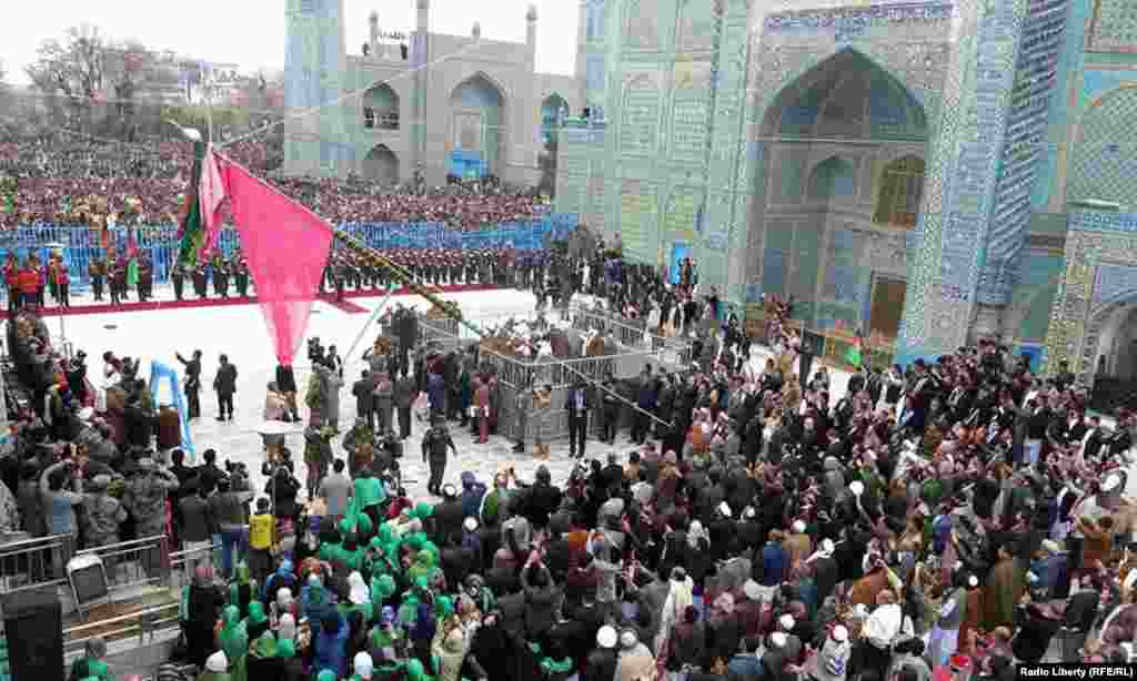A Norouz celebration at the Blue Mosque in Mazar-e Sharif, Afghanistan.
