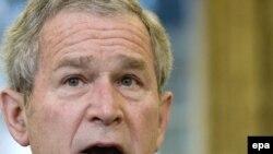 جرج بوش رییس جمهوری آمریکا. عکس از ( EPA).