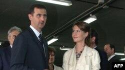 اسما در کنار بشار اسد