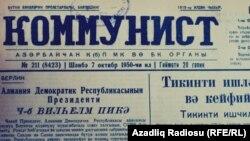 «Kommunist» qəzetinin 1950-ci ildə çıxan say