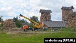 Княская вежа ўзятая пад дах