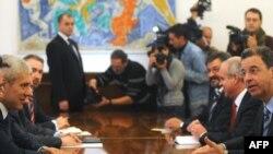 Serž Bramerc na sastanku sa predsednikom Srbije Borisom Tadićem, Foto: Vesna Anđić