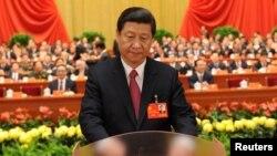 Қытайдың жаңа төрағасы Си Цзиньпин. 14 қараша 2012 жыл.