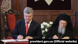 Petro Poroshenko və Patriarx Bartholomew I
