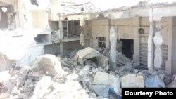 Разрушенная мечеть в Сирии, октябрь 2015 г.