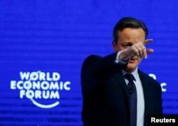Britanyanın baş naziri David Cameron builki Davos Forumunda