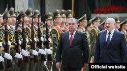 Эмомали Рахмон в Минске. Фото пресс-службы президента Таджикистана