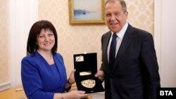 Țveta Karaiancheva cu ministrul de externe rus Sergei Lavrov la Moscova