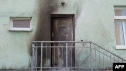 Almaniya - Drezdendə yandırılmasına cəhd edilmiş Fatih Camii məscidi. 26 sentyabr 2016