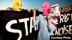 Почтовая открытка международной кампании в поддержку Pussy Riot