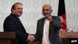 افغان ولسمشر اشرف غني او د پاکستان وزيراعظم نواز شريف