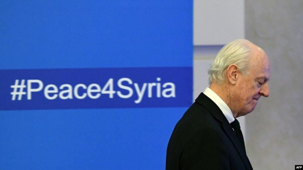 استفان دیمیستورا، نماینده ویژه سازمان ملل در امور سوریه در آستانه