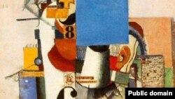 """""""Солдат первой дивизии"""", Казимир Малевич, фрагмент картины"""
