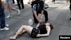 Одна из жертв инцидента на Таймс-сквер