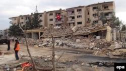 نُصَیبین در استان ماردین پس از انفجار خودروی بمبگذاریشده