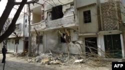 ساختمانی تخریب شده در حمص- ۲۷ بهمن