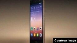 Huawei-nin Ascend P7 modeli üzərində yenilənən sapfir ekranlı P7 telefonu