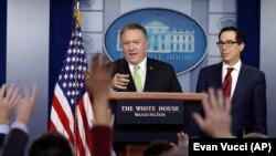 Secretary of State Mike Pompeo speaks to reporters during a news conference at the White House on January 10 in Washington.