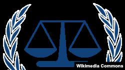 Эмблема Международного уголовного суда ООН в Гааге.